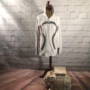 Lululemon Athletic Jacket in White and Gray